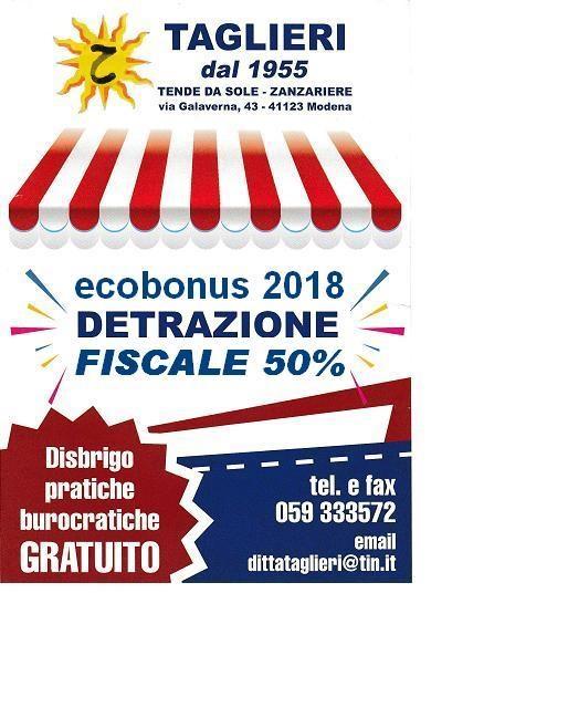 Ditta Taglieri - Chi siamo - detrazione fiscale 50%